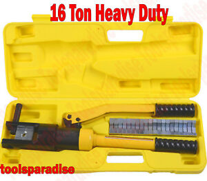 Hydraulic Hand Die Electrical Cable Wire Crimping Terminal Crimper Crimp Tool