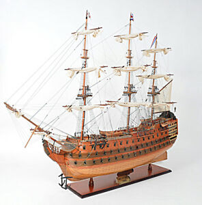 Xl Hms Victory Lord Nelson S Flagship 58 Tall Ship Model Wooden Fully Assembled
