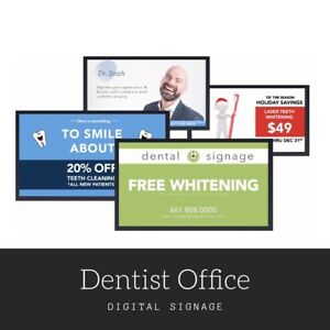 Digital Signage Media Content Dentist Office Advertising