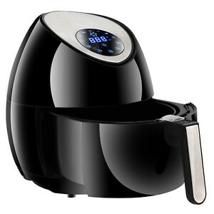 Electric Air Fryer With Digital Lcd Touch Display 7 Cooking Presets Oilfree