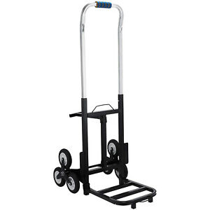 Portable Stair Climbing Folding Cart Climb 6 Wheels W Adjustable Handle
