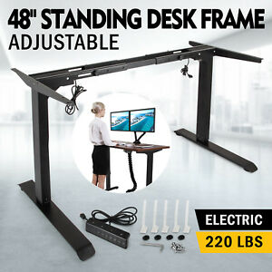 Electric Standing Desk Frame Sit Stand Table Adjustable Height Workstation