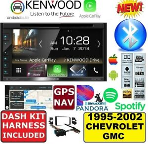 1995 2002 Chevy Gmc Kenwood Navi Cd dvd Apple Carplay Android Auto Car Stereo