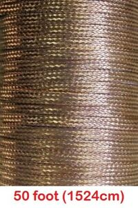 50 Feet X 0 35 Wide Copper Ground Strap Cable wire Flat Braided Usa Made