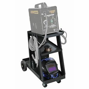 Welding Cart For Mig Tig Flux Welder Heavy Duty Swivel Wheels