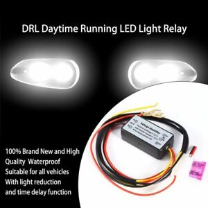 Car Led Daytime Running Light Relay Harness Drl Control Automatic Dimmer New