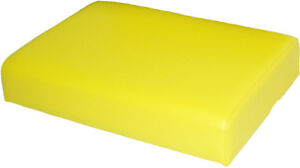 Amss7256 Seat Cushion Yellow Vinyl For John Deere 320 330 420 430 Tractors