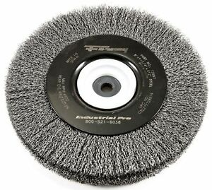Forney 72897 Wire Bench Wheel Brush Industrial Pro Crimped With 1 2 inch