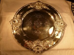 Spectacular J E Caldwell Sterling Silver 10 1 2 Plate Platter Tray Redlich