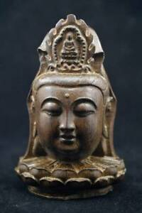 Chinese Agalloch Eaglewood Wood Antique Hand Carved Statue Guanyin Buddha First