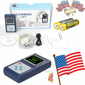 Usa Hand held Pulse Oximeter Spo2 Monitor veterinary Use blood Oxygen cms60d Vet