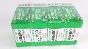 4 Boxes 100 Count Jumbo Paper Clips Acco Smooth Finish Chrome 725250