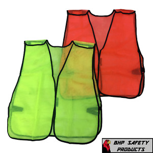 Hi vis General Purpose Safety Vest Breakaway Mesh Traffic Safety Lime orange