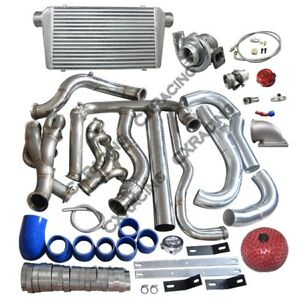 Turbo Intercooler Kit For 99 07 Chevrolet Silverado Vortec V8 4 8 5 3 6 0