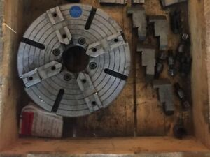 Rohm Lathe Chuck 310 4 Jaw Comes With All 4 Jaws As Well