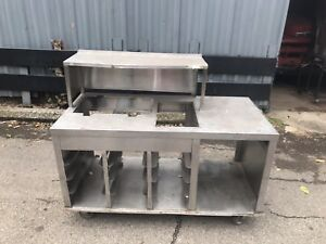 Stainless Steel Counter Table 139 Catering Buffet Food Truck Send Best Offer