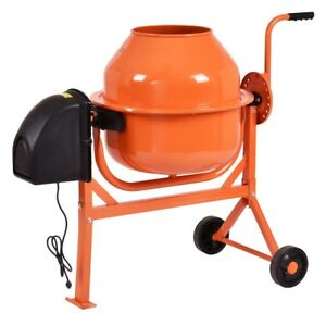 27 5 Rpm Portable Electric 2 1 5 Cubic Ft Cement Concrete Mortar Stucco Mixer