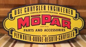 Mopar Chrysler Vintage Style Retro Metal Tin Plymouth Dodge Garage Man Cave Race