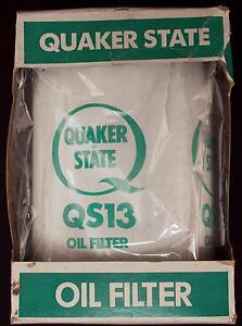 Quaker State Oil Filter Qs13 New In Box For 1962 To 1984 Chevrolet Engines