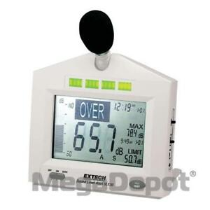 Extech Sl130w 30 130db Sound Level Meter With Alarm
