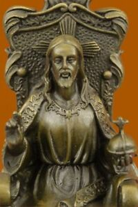 Collectible Bronze Statue Deal Signed Original Valli Religious Jesus Hot Cast