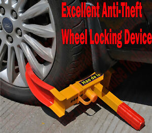 Trailer Car Auto Wheel Tire Locking Chock Wedge Stop Stopper