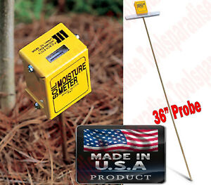 Earth Soil Moisture Water Reader Meter Tester Probe Made In Usa