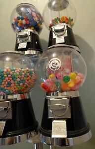 4 Head Cand Machine With Stand 2 Gumball 2 Candy