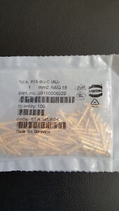 New Harting 09150006222 18awg Female Crimp Contact Pins lot Of 100