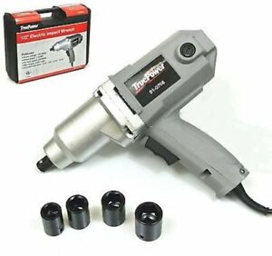 Electric 1 2 Drive Impact Wrench Heavy Duty Power Kit Cord Tool Work 12v Hq