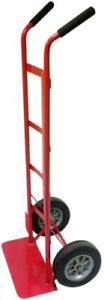Standard Hand Truck 800 lb Capacity Puncture Proof Tires Red Steel Milwaukee