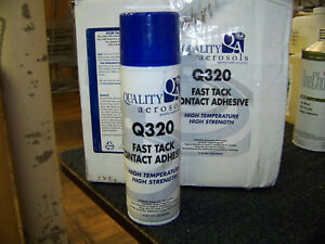 Quality Aerosol Q320 Fast Tack Contact Adhesive 13 Oz Spray Can 6 Cans New
