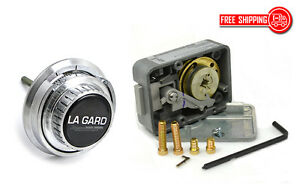 Lagard Combination Lock Lg 3330 With Lg 2085 sc Spy Proof Dial Set satin Chrome