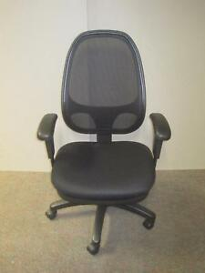 Offices To Go Black Mesh Executive Manager Swivel 5 Wheel Home Office Chair