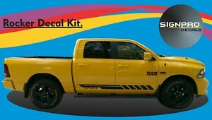Dodge Ram 2009 15 Hammer Stroke Rocker Stripe Vinyl Decal Colors Custom