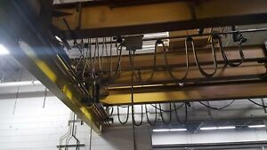 2 Pcs 6 Ton Industrial Overhead Cranes Made By P h And Milwaukee