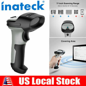 Inateck Bluetooth Wireless Barcode Scanner 35m Range Bcst 70