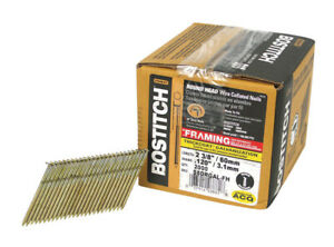 Stanley Bostitch Galvanized Stick Nails 2 3 8 Length 8d Ring Box Of 2000