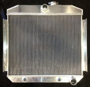New 3 Row Aluminum Radiator 1955 1956 Chevy Bel Air Fits 6cyl Core Supports