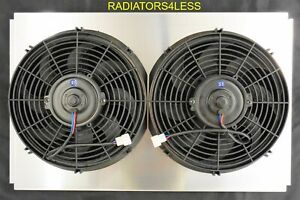 Aluminum Radiator Fan Shroud W 12 Fans 67 70 Ford Mustang Models 24 Wide Core