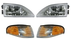 For 1994 1995 1996 1997 1998 Ford Mustang Cobra Headlight And Corner Light Combo