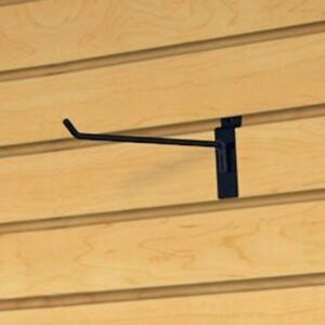 Only Hangers Commercial Deluxe Slatwall Hook 12 Black pack Of 24