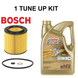 Bosch Engine Oil Filter W Gastrol Engine Synthetic Oil 5qt Tune Up Kit For Bmw