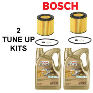 Bosch Engine Oil Filter W Gastrol Engine Synthetic Oil 5qt 2 Tune Up Kits Bmw
