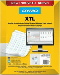 Dymo Laminated Wire cable Wrap Sheet Labels For Dymo Xtl Label Makers 1908552