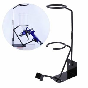 Gravity Feed Paint Spray Gun Stand With Strainer Holder Hvlp Wall Bench Mount Oy