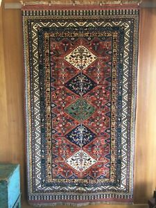 Vintage Outstanding Large Perfect Shiraz Oriental Rug