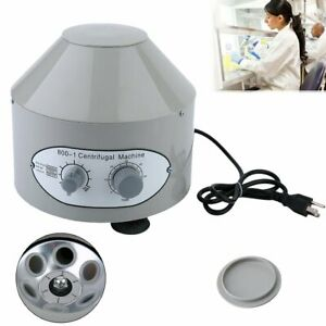 Electric Centrifuge Machine Lab Medical Practice 800 1 4000rpm 6x 20ml Rotor He