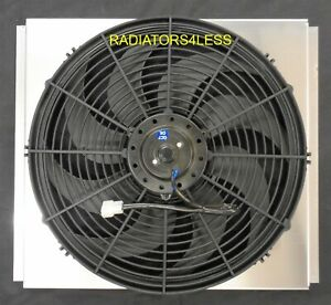 New All Aluminum Radiator Fan Shroud W 16 Fan Ford Mustang Falcon Comet