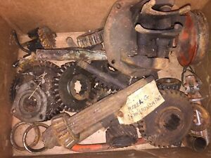Allis Chalmers G Tractor Transmission Shifter Forks And Gears Box Lot
